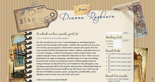 Deanna Raybourn Guest blog post